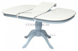 Стол TS LOUVRE D106 IVORY WHITE/ BLUE (LV-T106EX). Вид 2