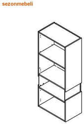Шкаф настенный Ньюарк SFW1W/14/6 I L (левый). Вид 2