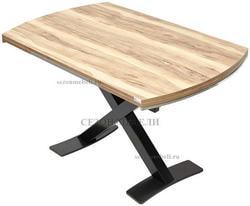 Стол KRIS TROPIC 120 см орех / черный. Вид 2