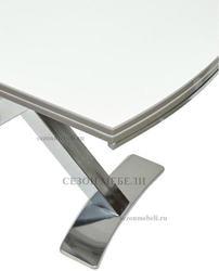 Стол KRIS NKL 120 см белый / никель. Вид 2