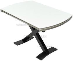 Стол KRIS BL 120 см белый / черный. Вид 2