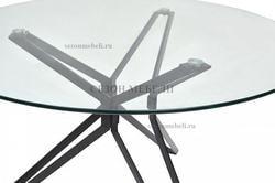 Стол VENETO D110 прозрачный. Вид 2