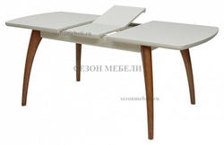 Стол MERCAN белый/ орех 120 см. Вид 2