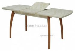 Стол VIZYON крем/ орех 140 см. Вид 2