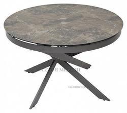 Стол TRENTO 120 KL-19 итальянская керамика/ GREY1 серый каркас. Вид 2