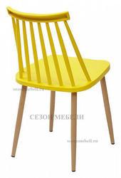 Стул EASEL желтый PP/металл ламинированный. Вид 2