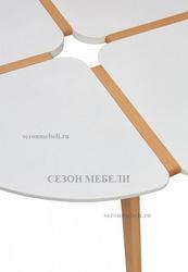 Стол JASMINE D90 белый/массив бука. Вид 2