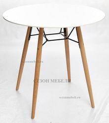 Стол CLIDE D80 белый/массив бука. Вид 2
