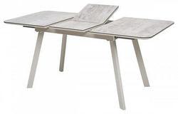 Стол ARUBA 120 BEIGE/ CAPPUCINO глазурованное стекло. Вид 2