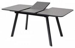 Стол ARUBA 120 DARK GREY/ BLACK глазурованное стекло. Вид 2