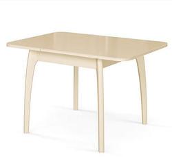 Стол №45 ДН4 слоновая кость/стекло бежевое. Вид 2