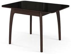 Стол №45 ДН4 венге/стекло черное. Вид 2