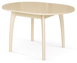Стол №46 ДН4 слоновая кость/стекло бежевое. Вид 2