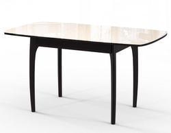 Стол М15 ДН4 венге/стекло бежевое. Вид 2