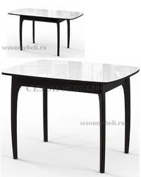 Стол М15 ДН4 венге/стекло белое. Вид 2