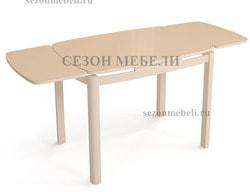 Стол Харбин стекло (молочный). Вид 2