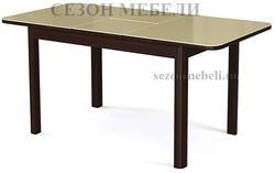 Стол №41 венге/ стекло бежевое. Вид 2