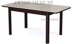 Стол №41 венге/ стекло белое. Вид 2