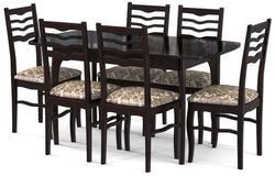 Стол №40 ДН4 венге/стекло черное. Вид 2