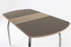 Стол Гала-1 (зебрано/стекло матовое капучино). Вид 2