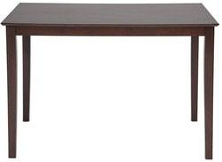Обеденная группа Хадсон (стол + 4 стула)/ Hudson Dining Set (темный орех). Вид 2