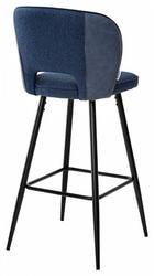 Стул барный HADES TRF-06 полночный синий, ткань/ RU-03 синяя сталь, PU. Вид 2