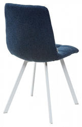 Стул CHILLI SQUARE TRF-06 полночный синий, ткань/ белый каркас. Вид 2