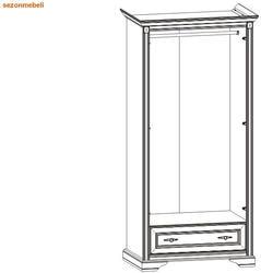 Шкаф 2-дверный Стилиус NSZF 2d1s. Вид 2