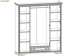 Шкаф 4-дверный Стилиус NSZF 4d1s. Вид 2