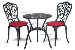 Комплект Secret De Maison Romance (Романс) (стол +2 стула) черный. Вид 2