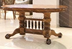Стол Азия (С-3247 орех, патина черная, глянец). Вид 2