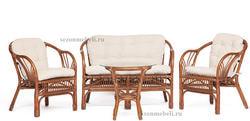Комплект для отдыха New Bogota (диван + 2 кресла + стол со стеклом). Вид 2