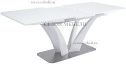 Стол FREYA 160 WHITE GLASS белый глянец. Вид 2