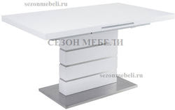 Стол QUADRO 140 WHITE GLASS белый глянец. Вид 2