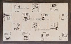 Стол LT T17366 DARK GREY G521/ плитка белая с черно-белым рисунком Париж. Вид 2