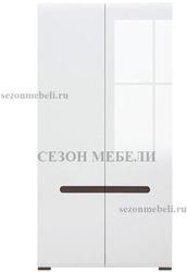 Шкаф Ацтека SZF2D/21/11 белый/белый блеск. Вид 2