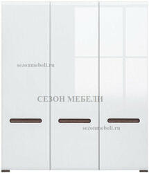Шкаф Ацтека SZF3D/21/18 белый/белый блеск. Вид 2