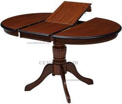 Стол TS Olivia DM-T4EX4(AV) (Espresso) D90. Вид 2