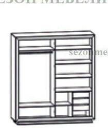 Шкаф 4-дверный Мальта (Malta) SZF4D. Вид 2
