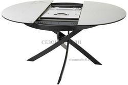 Стол ORBIT D110 мрамор/графит. Вид 2