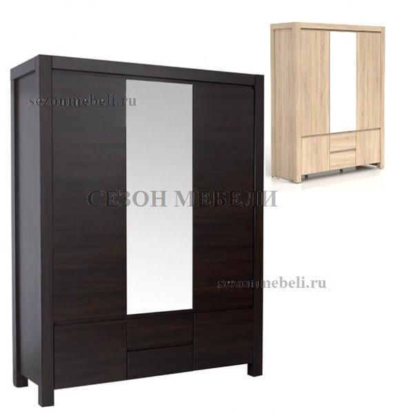 Шкаф с зеркалом Август SZF 5D2S (фото)