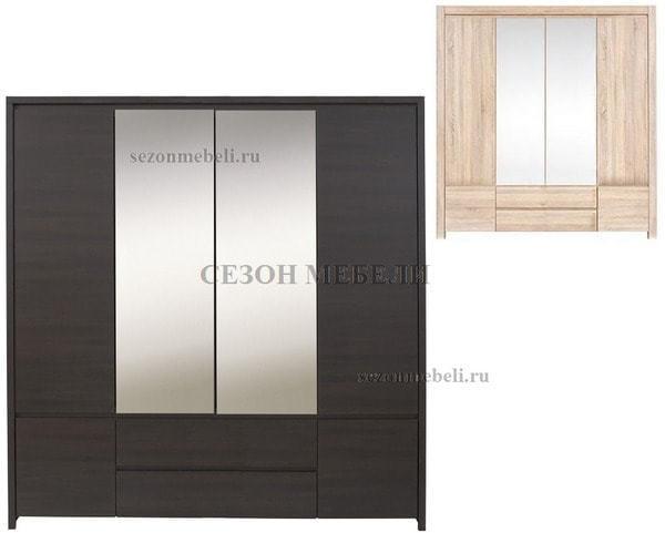 Шкаф с 2 зеркалами Август SZF 6D2S (фото)