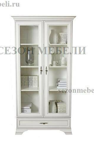 Шкаф-витрина Кентаки REG2W1S белый (фото)