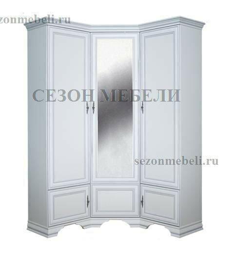 Шкаф угловой Кентаки SZFN5D белый (фото)