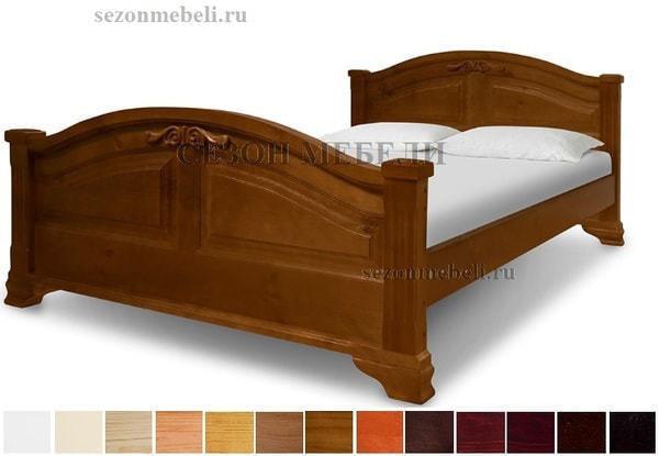 Кровать Леонсия с резьбой (фото)