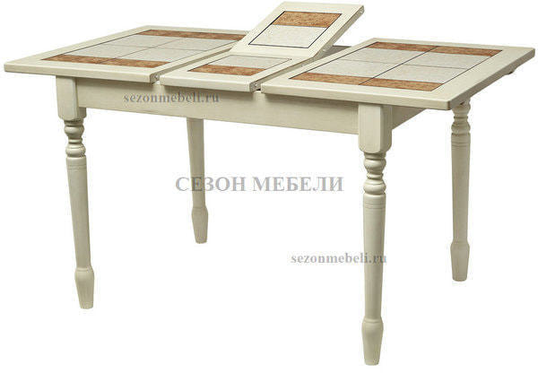 Стол LT T13302 BUTTERMILK #WW21/ плитка 2 тона LILY WHITE/ COSMO (фото)