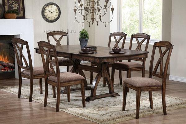 Обеденная группа (стол LT T14441 и стулья LT C14347) (фото)