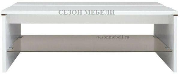 Стол журнальный Ацтека LAW/4/11 белый/белый блеск (фото)