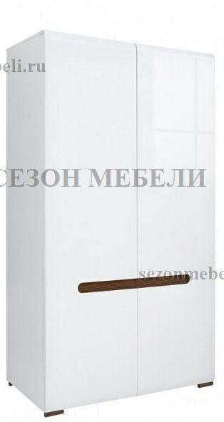 Шкаф Ацтека SZF2D/21/11 белый/белый блеск (фото)
