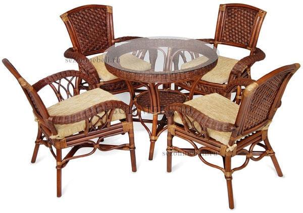 Обеденная группа Andrea (Андреа) стол+4 кресла